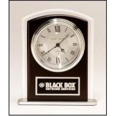 BC965 Black Wood Accent Clock